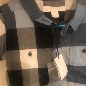 Toddler Burberry Button Up